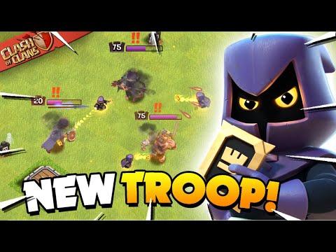 Headhunter vs All Heroes! New Clash of Clans Troop!