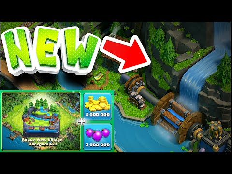 "BUYING NEW WATERFALL!! ""Clash Of Clans"" Buy New update complete!"