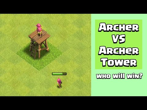 Every Level Archer VS Every Level Archer Tower | Clash of Clans
