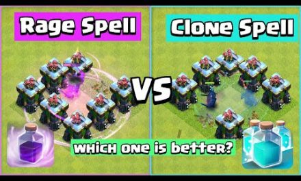Rage Spell VS Clone Spell | Clash of Clans