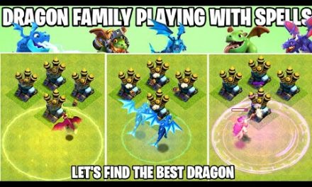 Dragon Family Vs Every Spell | Clash Of Clans