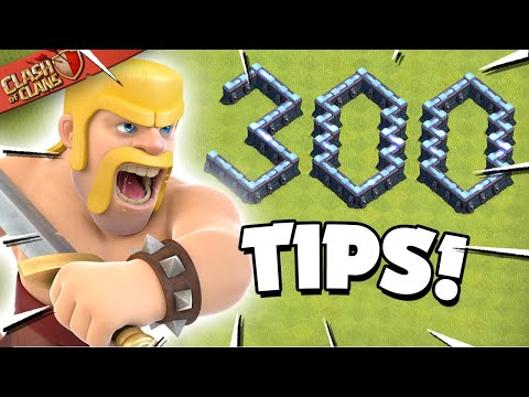 300 Clash of Clans Tips in One Video (300K Sub Special)
