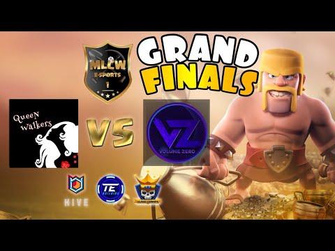 PREPARE FOR WAR!! MLCW Grand Finals | Queen Walkers vs Volume Zero | Clash of Clans eSports