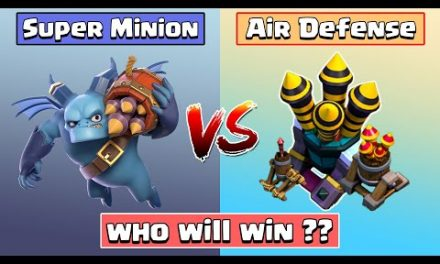 Every Level Air Defense Vs Super Minion | Clash of Clans