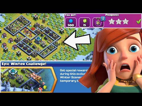 3 STAR EPIC WINTER CHALLENGE (Made SIMPLE) | Clash of Clans