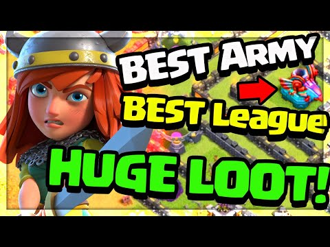 BEST Army, BEST League, MASSIVE Loot! (Clash of Clans)