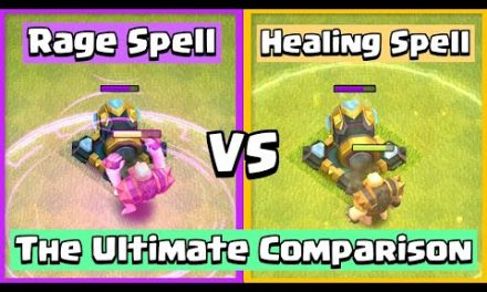 Healing Spell VS Rage Spell | Clash of Clans