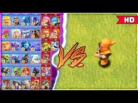 SUPER WIZARD VS ALL TROOPS💥 1v1 !!! CLASH OF CLANS……..