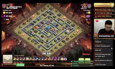 BATTLE RAGE vs TRUNG QUỐC (CHINA) TH13 ATTACK Clash of clans | Akari Gaming
