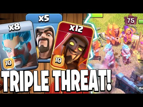 TRIPLE WIZARD AVALANCHE Crushes Enemy Bases! – Clash of Clans