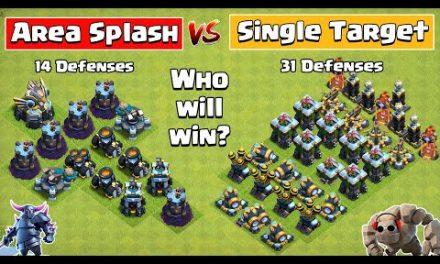 Area Splash Defense Vs Single Target Defense Formation   Clash of Clans