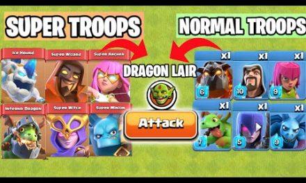 Super Troops Vs Normal Troops Vs Goblin Map | Clash of clans