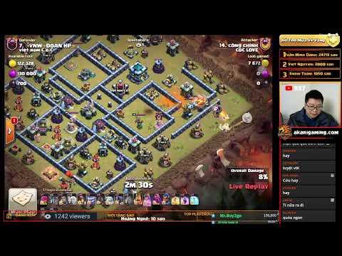 COC LOVE  vs VIỆT NAM C.O.C LIVE TH13 ATTACK Clash of clans   Akari Gaming