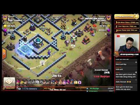 COC LOVE  vs THAI! EXODUS (THAILAND) LIVE TH13 ATTACK Clash of clans   Akari Gaming