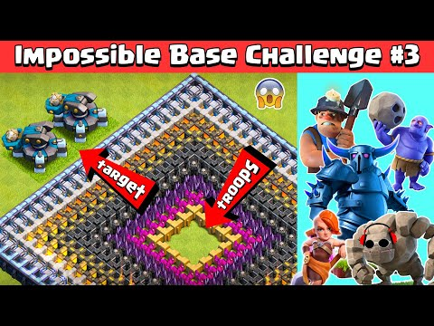 Impossible Base Challenge #3 with SCATTERSHOT | Clash of Clans