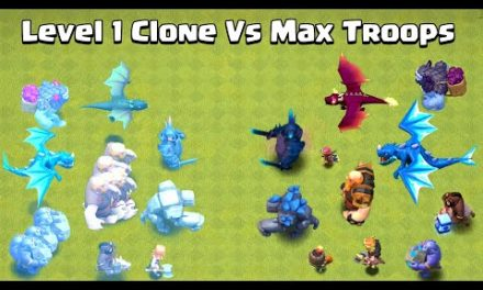 Level 1 + Clone Spell Vs Max Level Troops | Clash of Clans