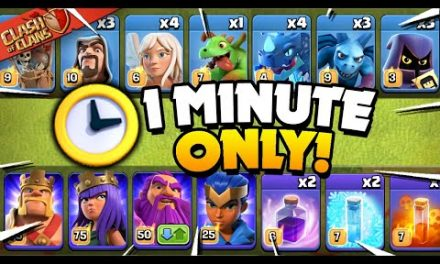 Clash of Clans, But Only 1 Minute to Attack!