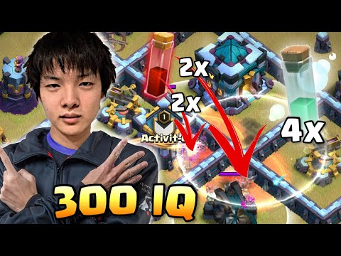 QUEEN WALKERS DISCOVERED NEW 300 IQ SKELLY DONUT TRICK! | Clash of Clans eSports