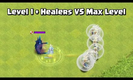 Level 1 Troops + 8 Healers VS Max Level Troops | Clash of Clans