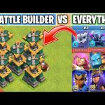 Battle Builder Vs Every single Troop/Heroes | New Defense Update | Clash of clans