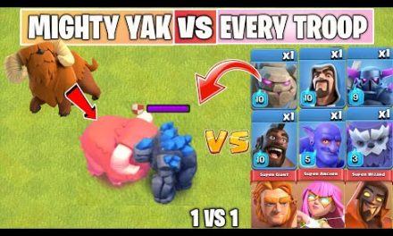 MIGHTY YAK Vs EVERY TROOP | Townhall 14 Update | Clash of clans