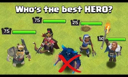 Who's the BEST HERO in Clash of Clans   Barbarian King Vs Archer Queen Vs Royal Champion Vs Warden