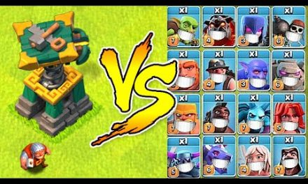 """New Battle Builder vs. Every Troop in the Game!  """"Clash Of Clans"""" Super troops vs. BB"""