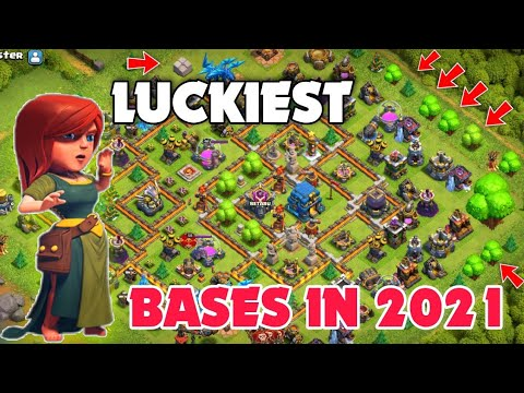 Luckiest Bases in Clash of Clans History||Top 5 luckiest Bases in Coc 2021 {EP-05}