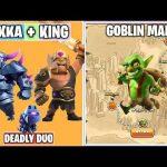 P.E.K.K.A + Barbarian King Vs Goblin Map   Goblin Map WALKTHROUGH   Clash of clans