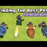 Finding The Best Pet For Archer Queen   Clash of Clans