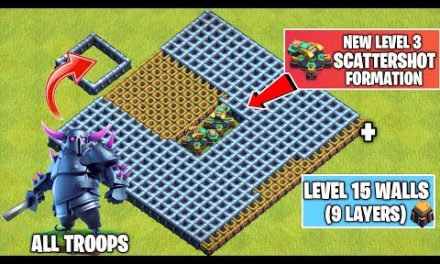 New Level 3 ScatterShot Formation Vs Every Troop | Th14 Update | Clash of clans