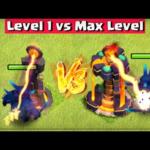 Level 1 Defense vs Max Defense – Clash of Clans | June Update