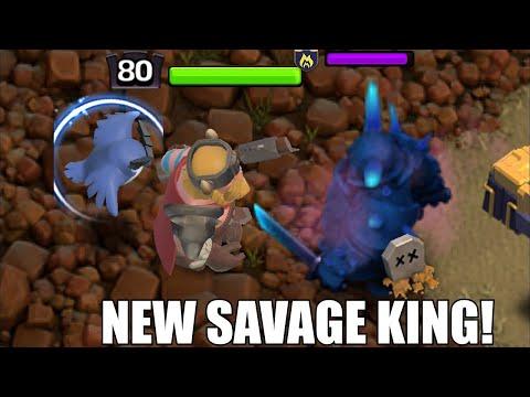 New Savage King Skin New Season Update!!   Clash Of Clans  