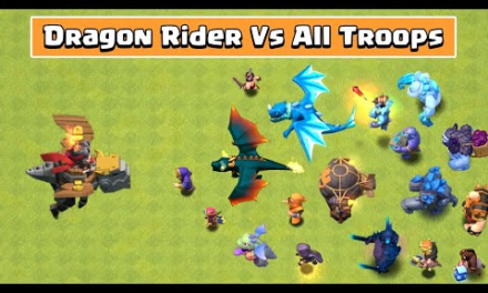 DRAGON RIDER Vs All Troops | Clash of Clans Update | Dragon Rider Attack | COC new update gameplay