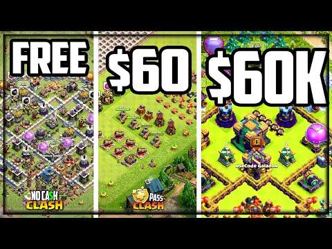 COMPARED: Free vs. $60 vs. $60,000 Accounts in Clash of Clans!