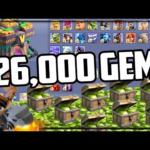 126,000 Gems – GEM TO MAX – Clash of Clans Update!