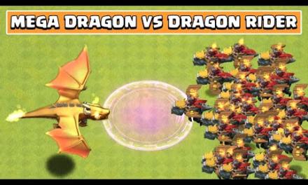 GIANT DRAGON VS DRAGON RIDER | Clash of Clans Update | Mega Dragon Vs Dragon Rider | Boss Dragon