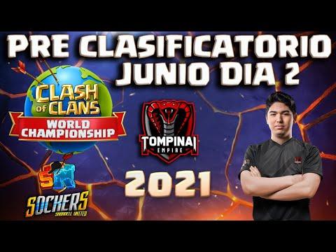 🔴LIVE PreClasificatorio Junio. Mundial 2021 Clash of Clans | TOMPINAI EMPIRE | SOCKERS & SHION