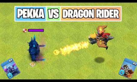 P.E.K.K.A Vs Dragon Rider   Troop Comparison   Clash of clans Summer Update