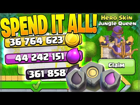 GEMMING the Gold Pass & BUYING EVERYTHING! (Clash of Clans)