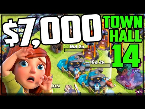 The $7,000 Clash of Clans Account to TOWN HALL 14!