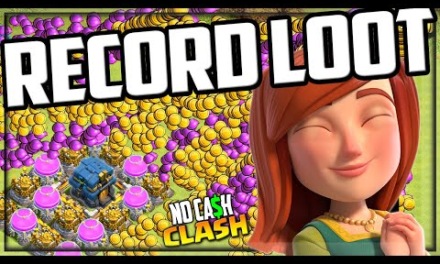 BIGGEST LOOT EVER + Free Gems! No Cash Clash of Clans #191