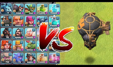 NEW! Rocket ballon vs. Every Troop in the Game!   Clash Of Clans  