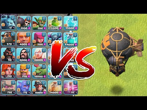 NEW! Rocket ballon vs. Every Troop in the Game! | Clash Of Clans |