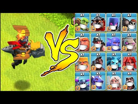 New Dragon rider Troop vs. Every Troop in the Game!    Clash Of Clans  