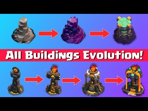 ALL BUILDINGS Upgrades Evolution (Latest Version)   Clash of Clans