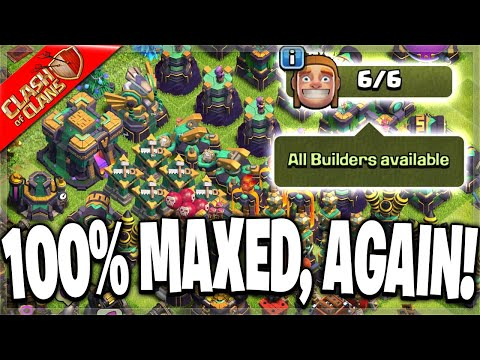 100% MAXING MY TOWN HALL 14 BASE yet Again! 😂 (Clash of Clans)
