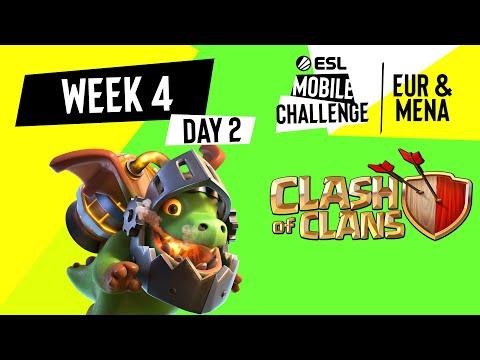 EUR/MENA Clash of Clans   Week 4 Day 2   ESL Mobile Challenge Spring 2021