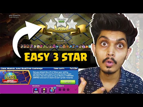 How To Complete Clash world's June qualifier challenge – Clash Of Clans – coc