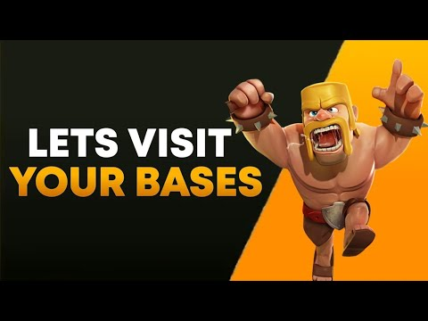 🔴Clash of Clan Live Base Visits  DrDarkfury   1.2 Subs Lets go!!